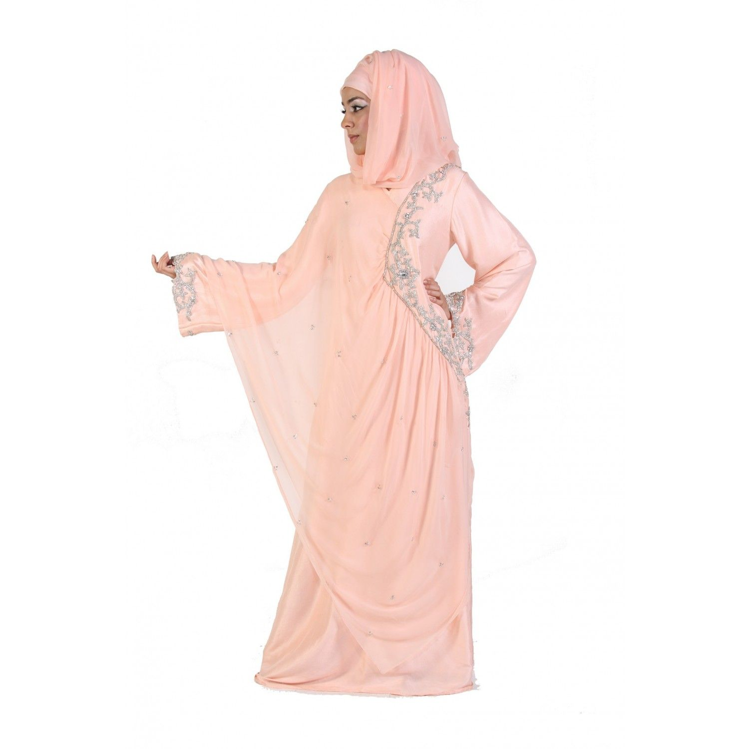 Sparkle Angel Sleeve Bridal Hijab 2012 5