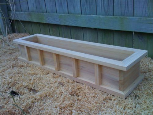 36 Window Box Cypress Wooden Planter Flower New Wood Wooden Garden Boxes Wooden Planters Patio Planters