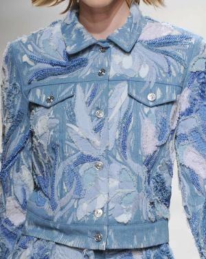 S S 15 Denim Forum Ornate Damage Denim Texture Denim Fashion