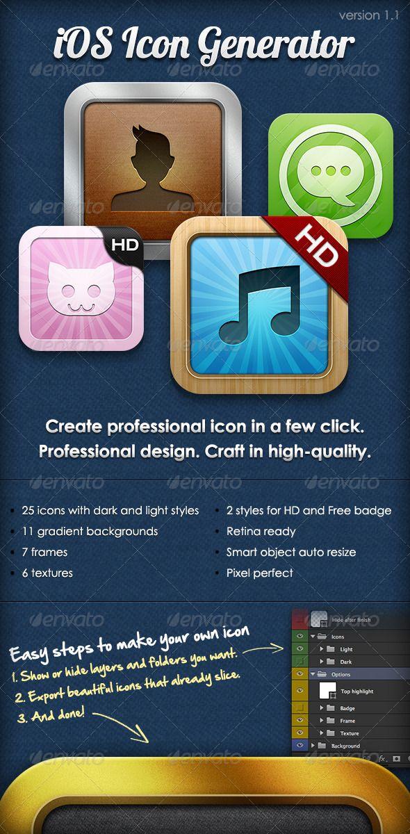 iOS Icon Generator Icon generator, Ios icon, Ios app icon