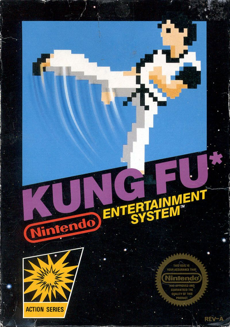 Cover art for Kung-Fu Master (NES) database containing game