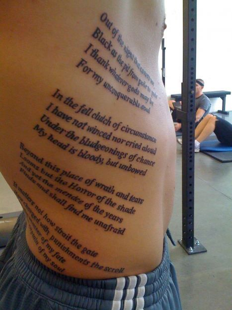 Invictus: I know I want a tattoo related to this poem, but ...