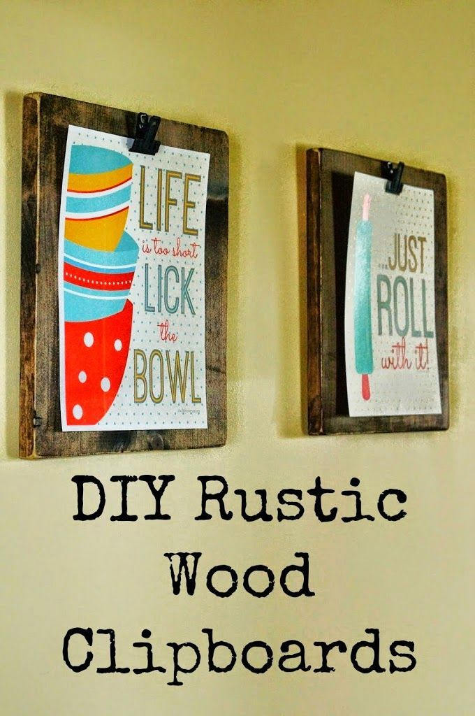 DIY Rustic Wood Clipboards using scrapwood. Also includes link to ...