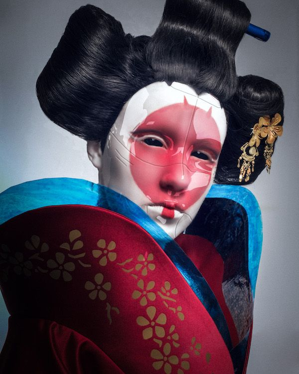 Ghost In The Shell Robot Geisha Cosplay Ghost In The Shell Geisha Art Geisha
