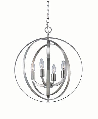 Home Decorators Collection 4 Light Brushed Nickel Sphere Chandelier | The  Home Depot Canada