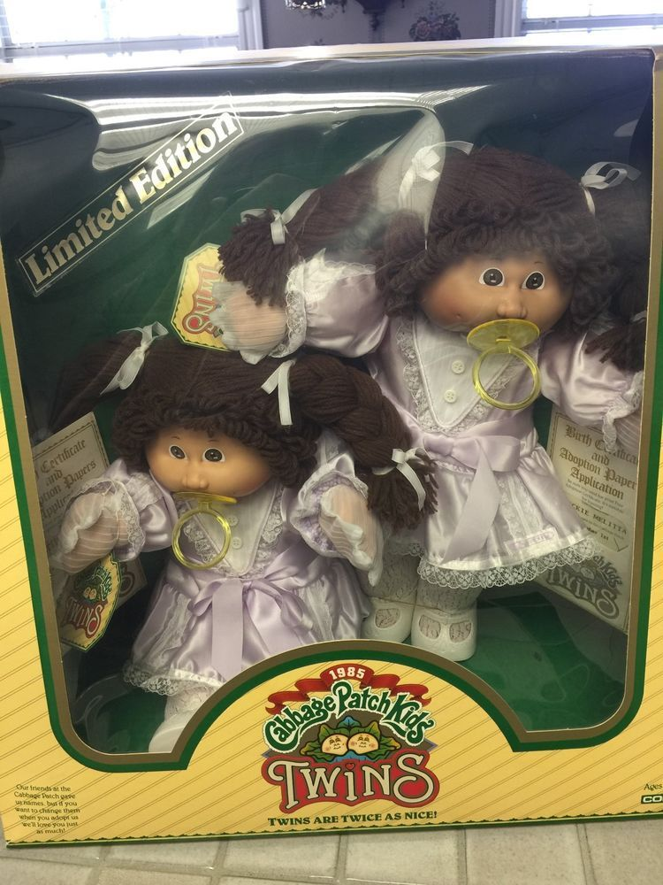 1985 Coleco Cabbage Patch Twins New In Box Cabbage Patch Dolls Cabbage Patch Cabbage Patch Kids