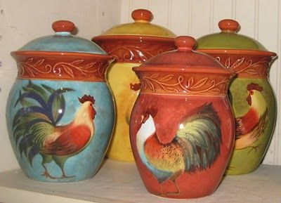 roosters canisters | Susan Winget New at Cracker Barrel! & roosters canisters | Susan Winget: New at Cracker Barrel! | Design ...