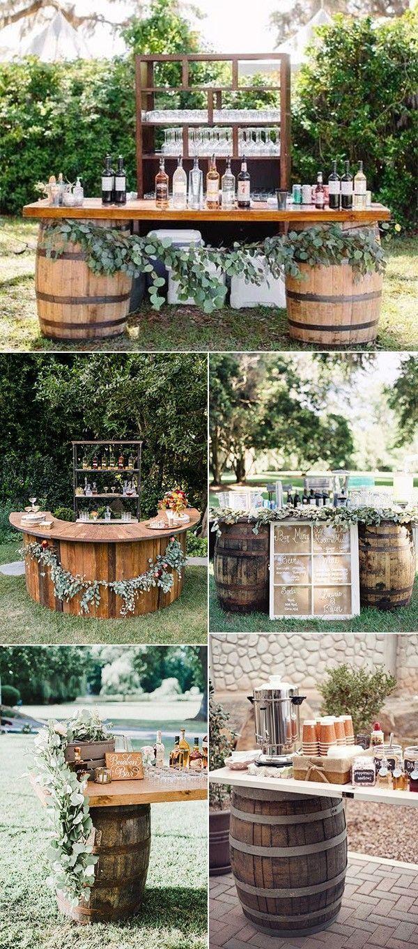 Photo of Ideas de la estación de bebidas de la boda al aire libre de otoño Rustikaler Hochzeitsdeko