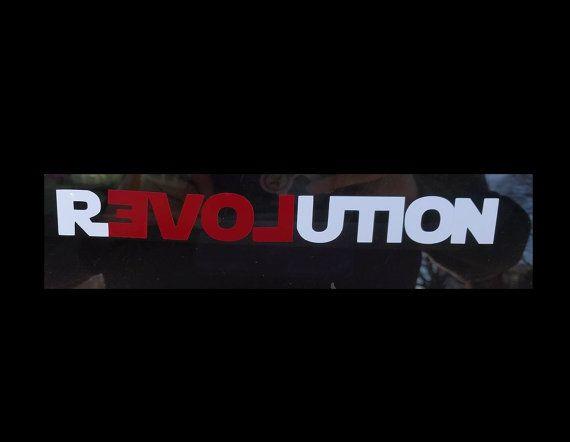 Love revolution vinyl decal car sticker by coventrydecor on etsy