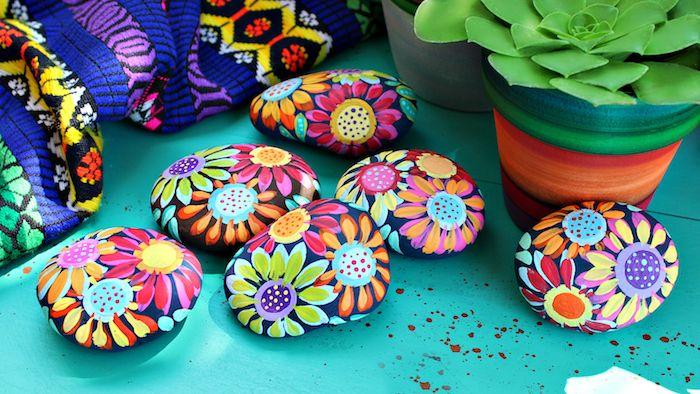 Steine Bemalen Blumen