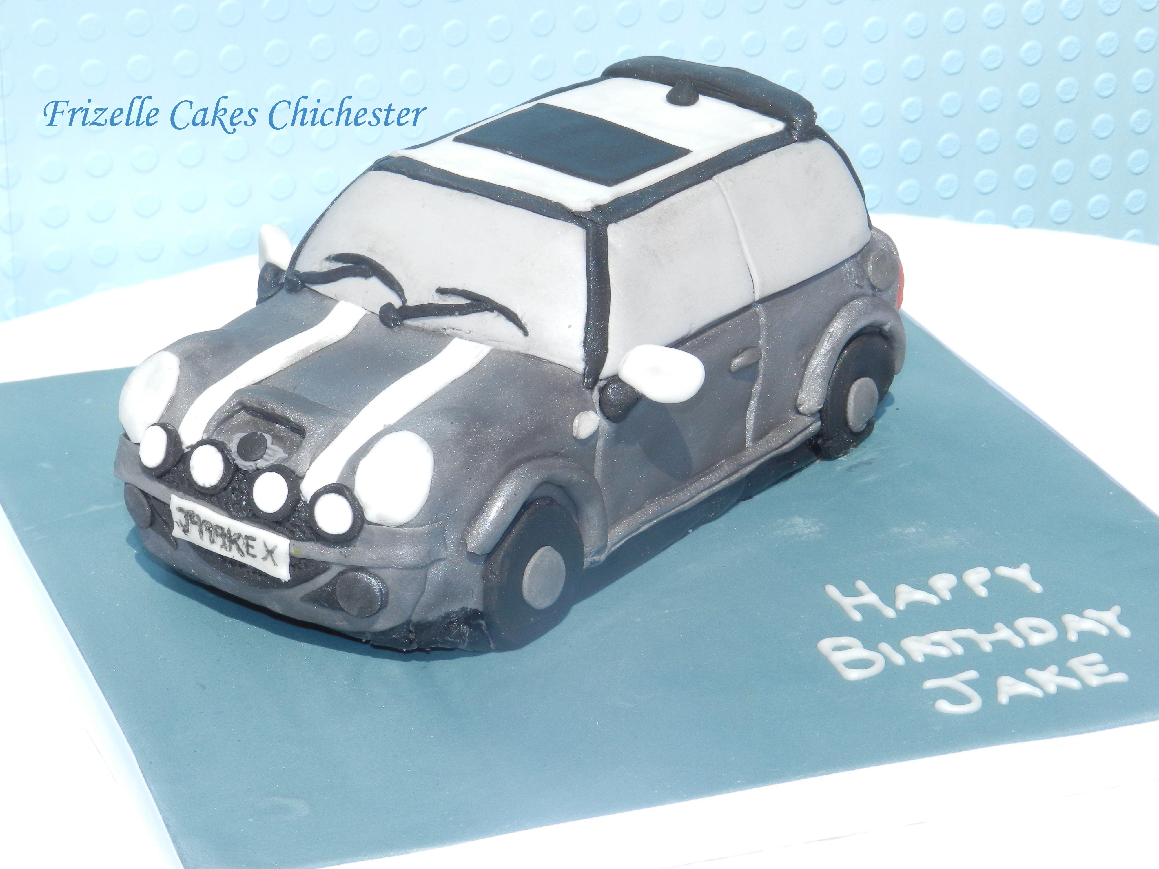 Mini Cooper Cake Celebration Cakes Pinterest Mini cooper cake