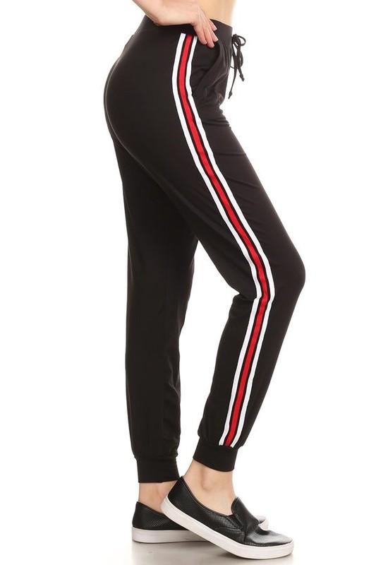 6db83d26878db9 Black Jogger Pants with Red and White Stripe in 2019 | Wear Me ...