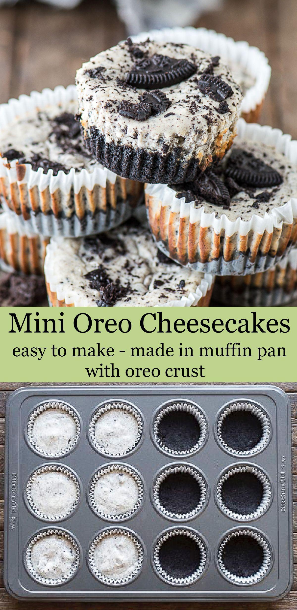 Mini Oreo Cheesecakes -   8 desserts Oreo cheesecake ideas