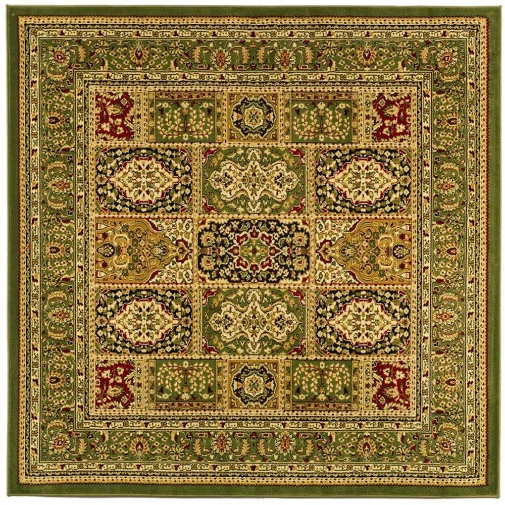 Safavieh Lyndhurst Multi Green 8 Ft X 8 Ft Square Area Rug Area Rugs Rugs Square Rugs