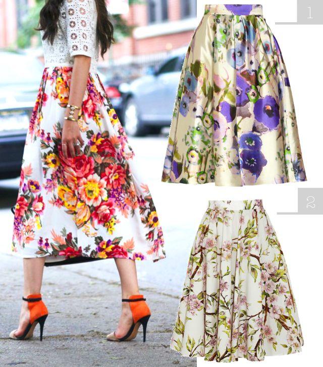 Clo By Clau!: DIY Inspo: Floral Skirts - Faldas con estampado de flores