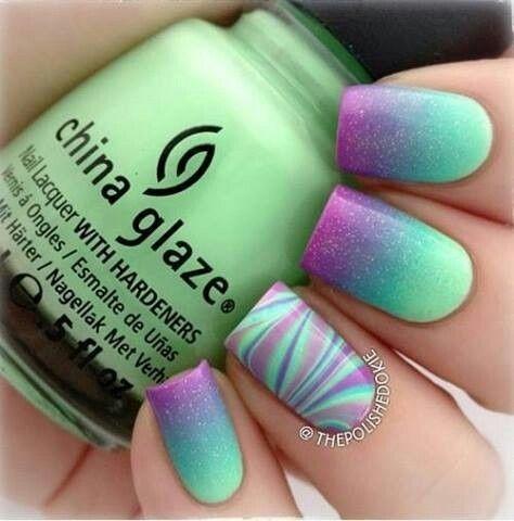 Galaxy-Marble Nails