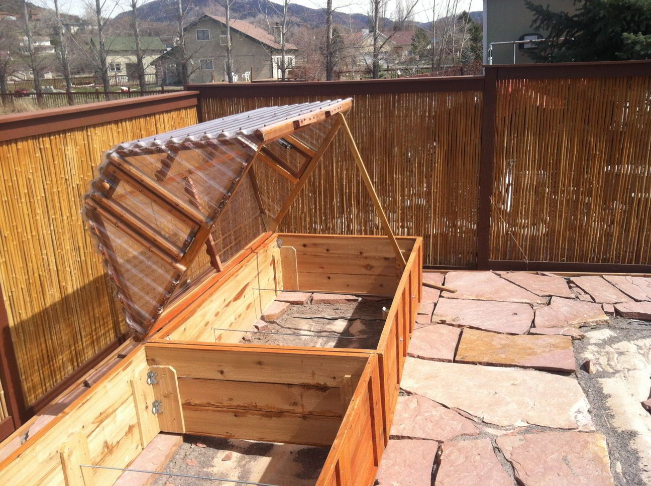 Raised Bed Garden Layouts | Cold frame on raised garden bed boxes ...