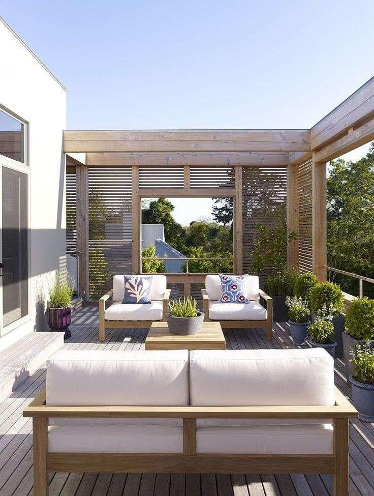 Arredare un terrazzo scoperto - Terrazzo dal design contemporaneo ...