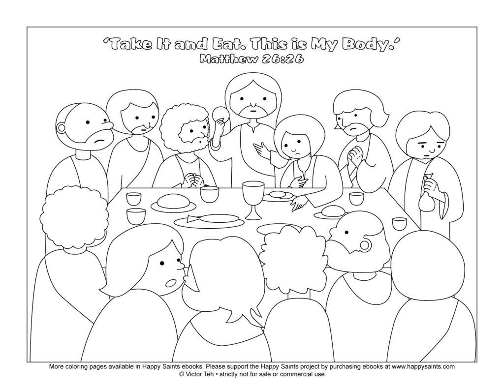 jesus christ coloring printable page for the last supper pictures