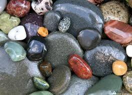 Love colored stones.