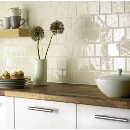 Opulento Wall Tile Cream 100 X 100mm 25 Pack Homebase Kitchen Wall Tiles Kitchen Splashback Tiles Kitchen Remodel