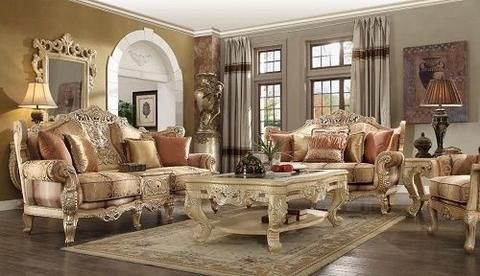 New Luxury Classic European Living Room Set Victorian Living