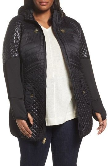 55d92c93df2 MICHAEL Michael Kors Plus Size Women s Quilted Anorak Quilted Coats