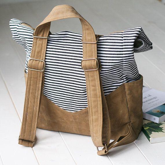 Retro Rucksack PDF Sewing Pattern | Convertible Straps | Backpack or ...