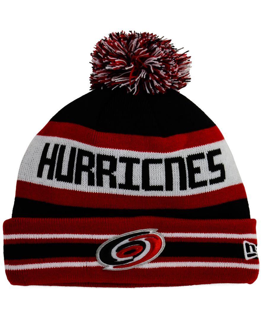 wholesale dealer 84ceb 52a0a ... mens carolina hurricanes authentic pro rinkside goalie black cuffed  knit beanie 6165c hot new era carolina hurricanes team color jake pom knit  hat b3638 ...