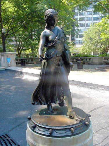 Girl with a Duck .....  PAUL HOWARD MANSHIP .      12/24/1885 -- 1/28/1966.