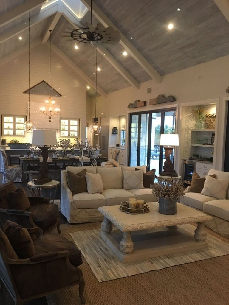 Metal Building Homes Interior 2 Farm House Living Room Vaulted