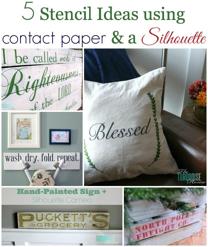 5 Stencil Ideas Using Contact Paper And A Silhouette Silhouette