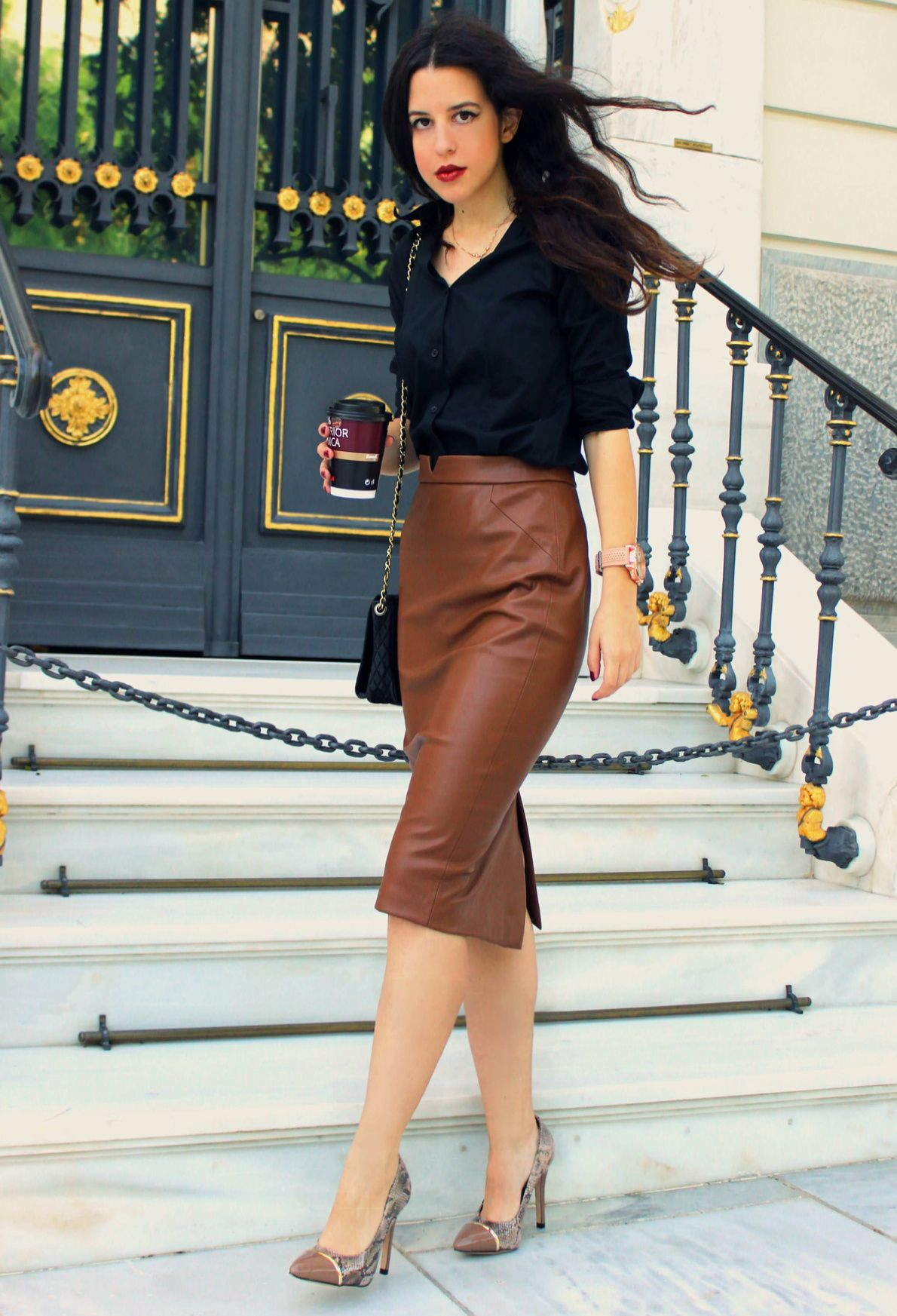 How to Spruce up your Dreary Work Interview Outfit | Pumps, Brown ...