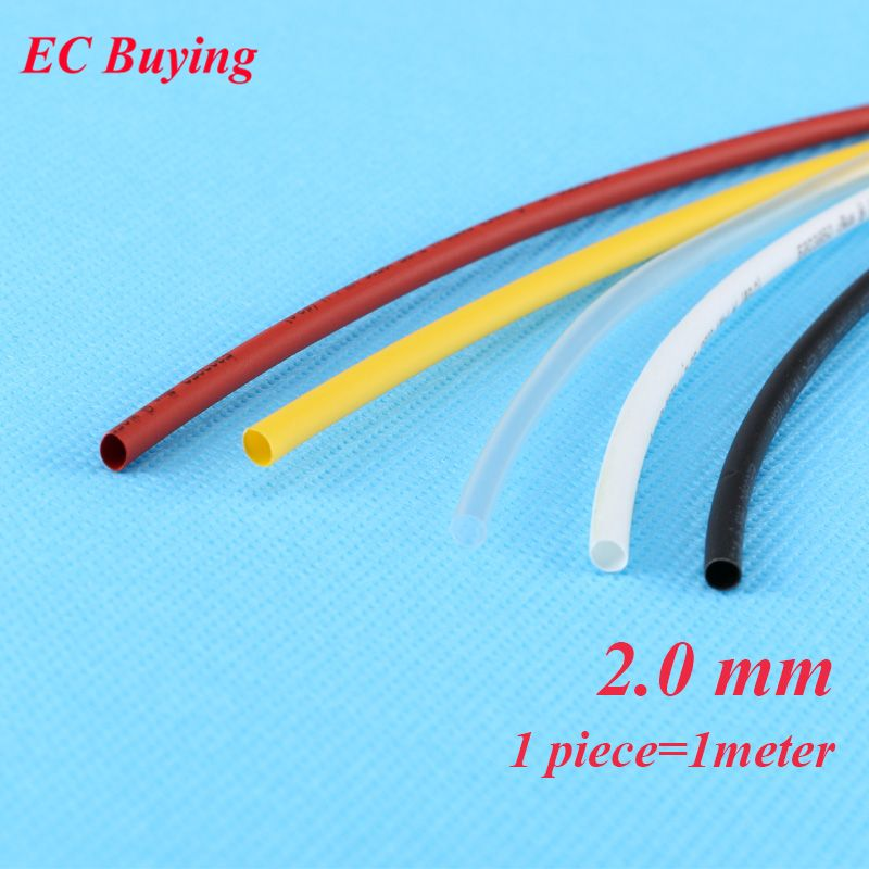 100 PCS Halogen-Free 2:1 Heat Shrink Tubing Wire Cable Sleeving 6 Size 7Colors Transparent