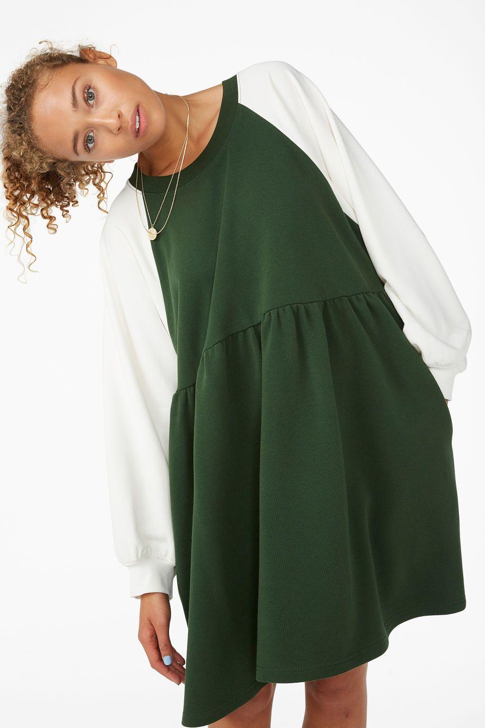Oversized dress,organic cotton dress,women dress,sweatshirt dress,cotton dress,sporty casual clothing,organic clothing