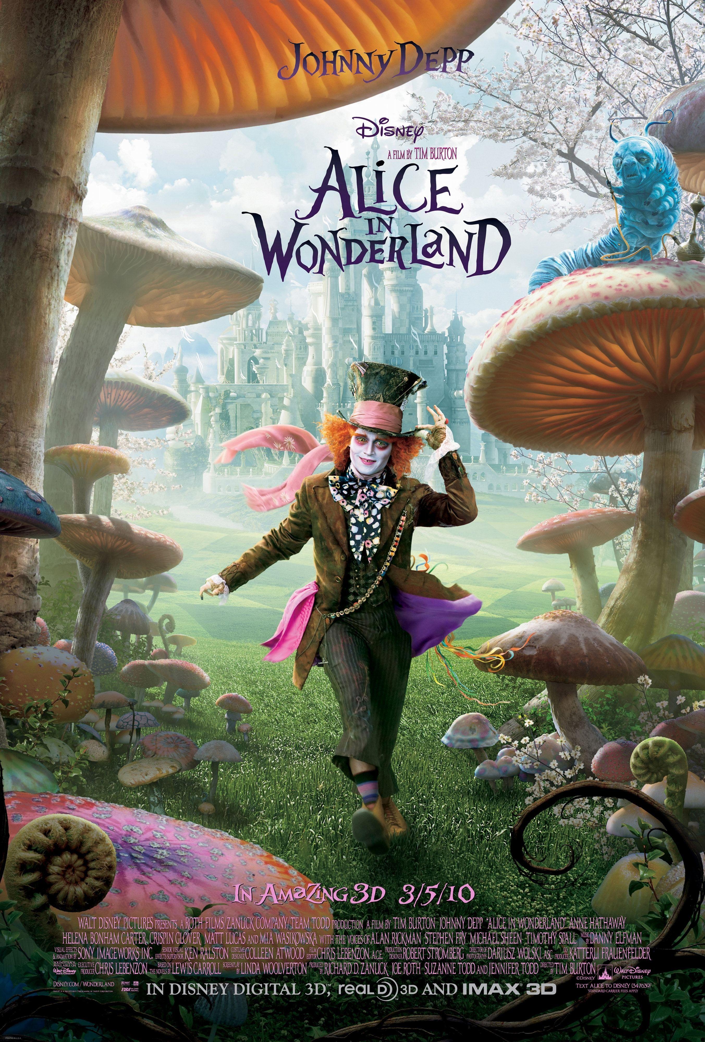 Alice In Wonderland Movie Posters Alice In Wonderland 2010