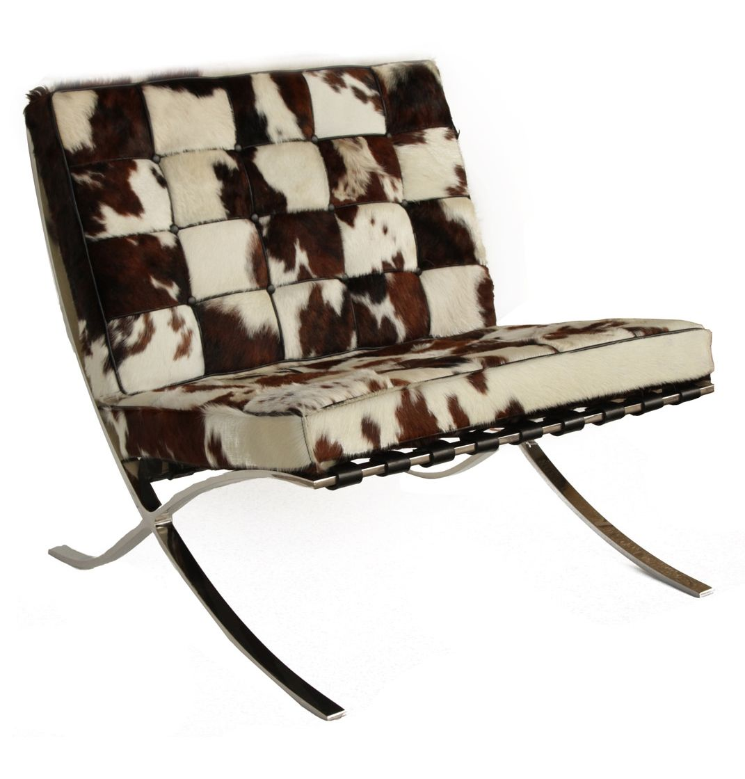 replica mies van der rohe barcelona chair cowhide the barcelona chair is the most celebrated. Black Bedroom Furniture Sets. Home Design Ideas