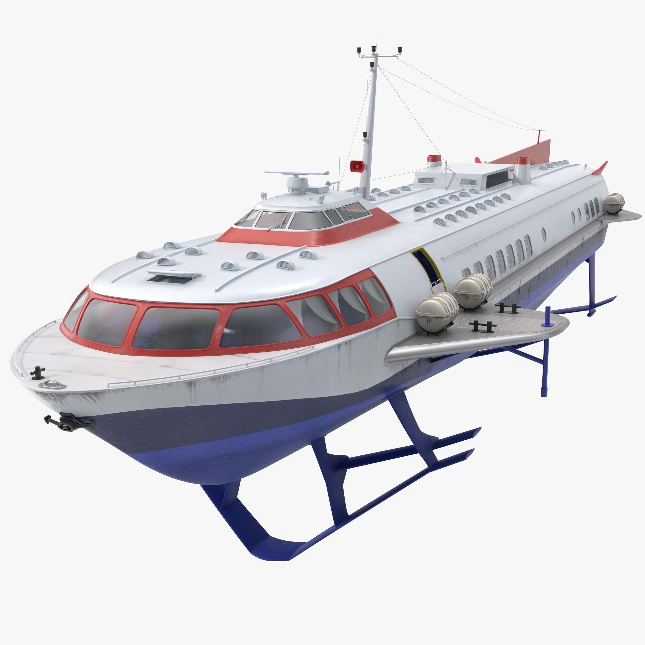 Passenger Hydrofoil Boat 3d Model Ad Hydrofoil Passenger Model Boat Model Boats Amphibious Vehicle Boat