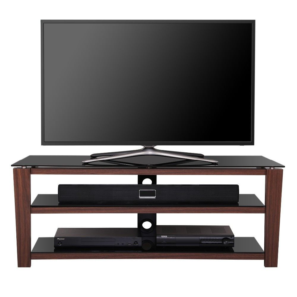 3 Tiers Wood Tv Stand Black Style Tv Stand Tempered Glass And