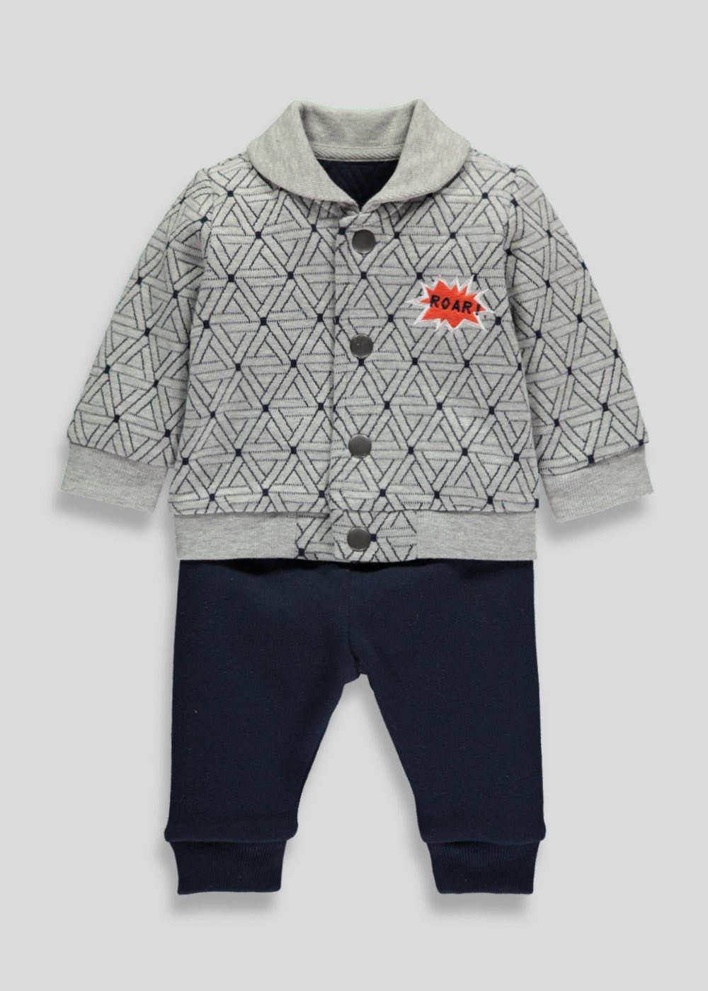 Boys Sweater Jacket & Jogging Bottoms (Tiny Baby-18mths)