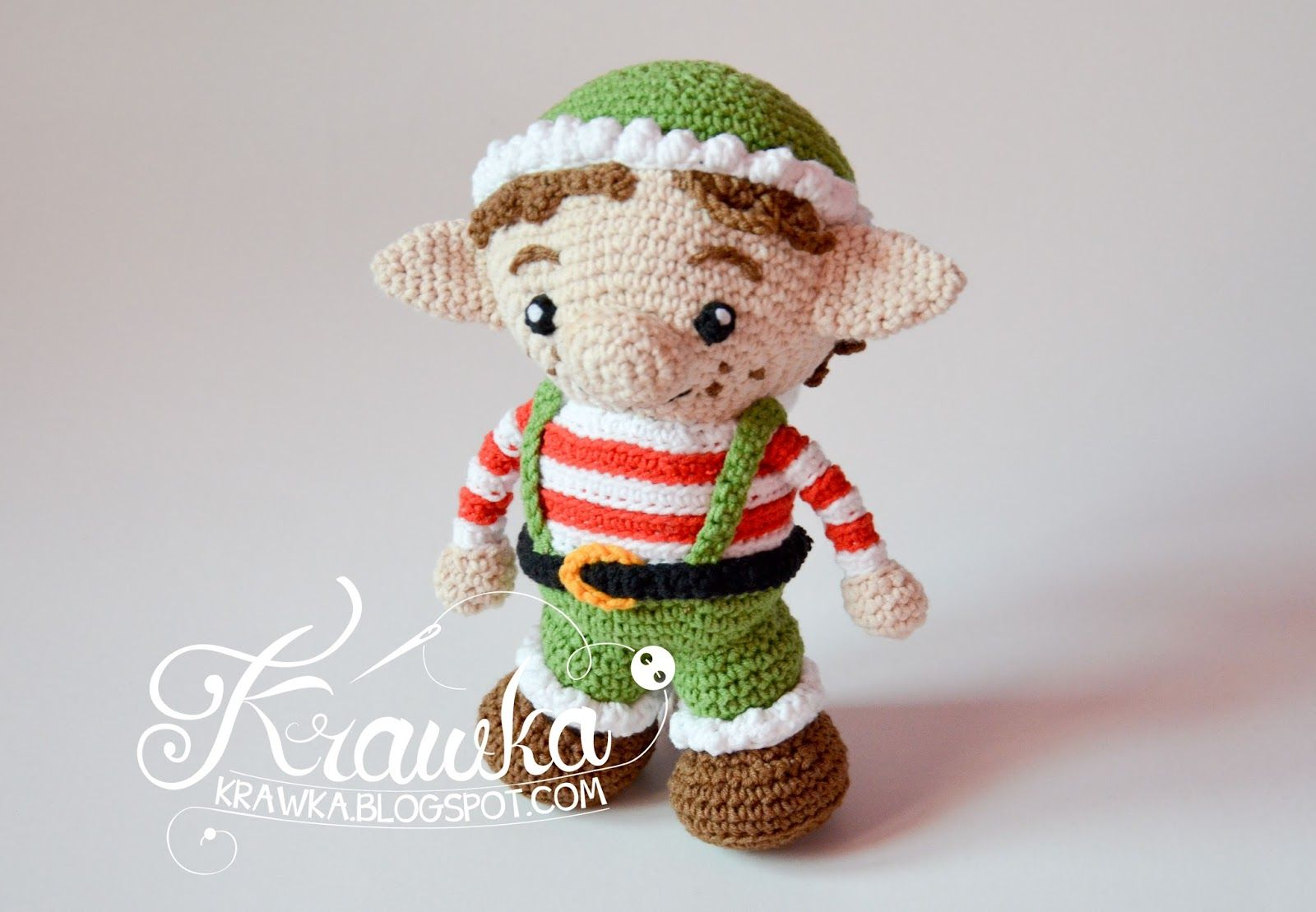 Christmas elf crochet pattern https://www.etsy.com/listing/483323396 ...