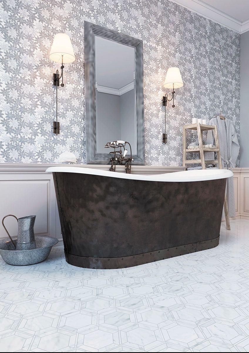 PANSY marblemosaic mosaic bathroom tile brooklyn showroom nyc