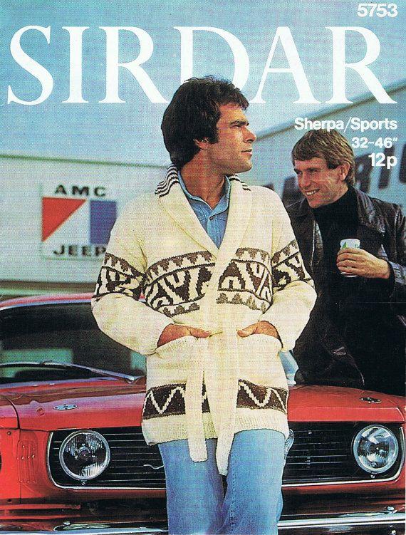belted cardigan mens Vintage