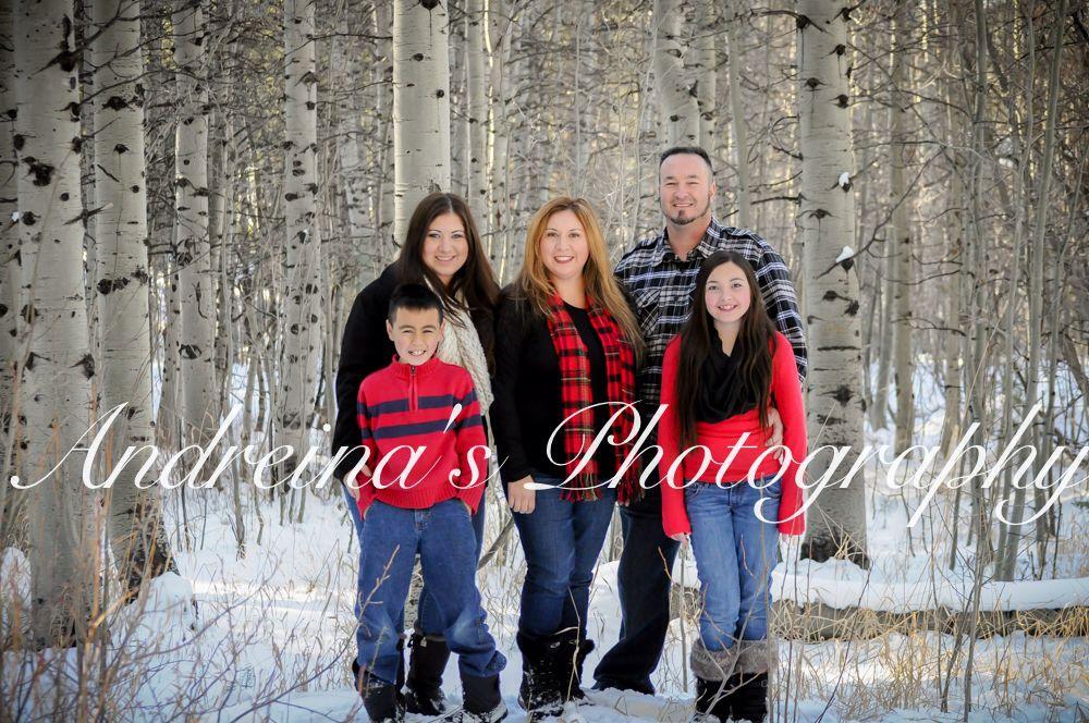 Winter family photos Lake Tahoe