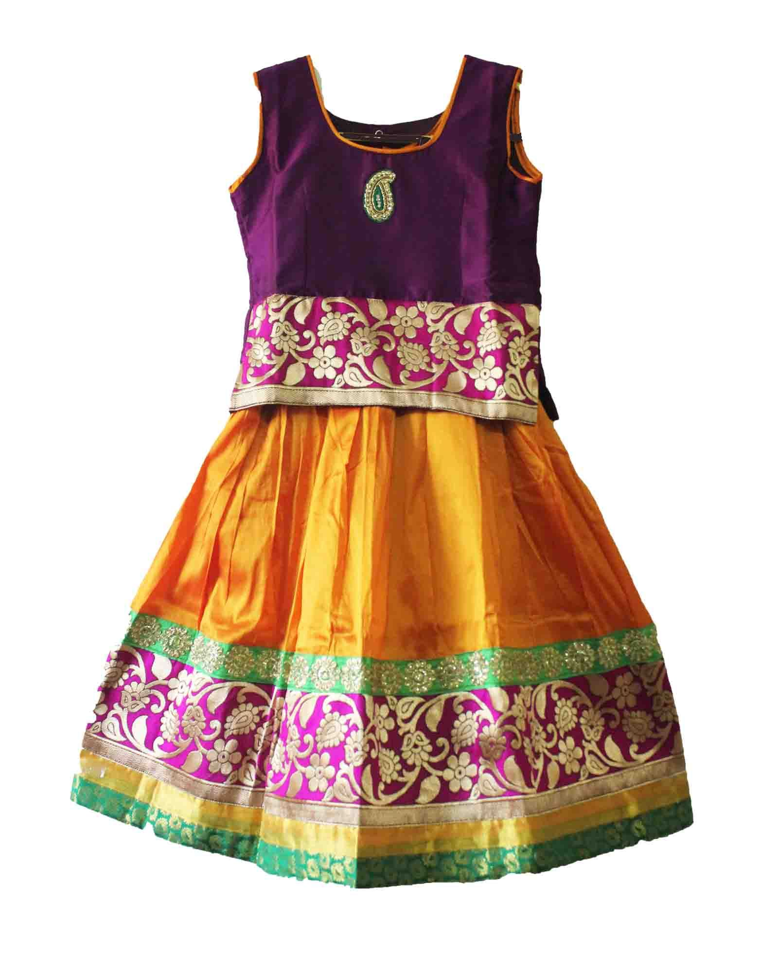 0bb62f2d6a27 Beautiful girls royal pavadai size: 8-9 years Price: Rs 1125 Free shipping