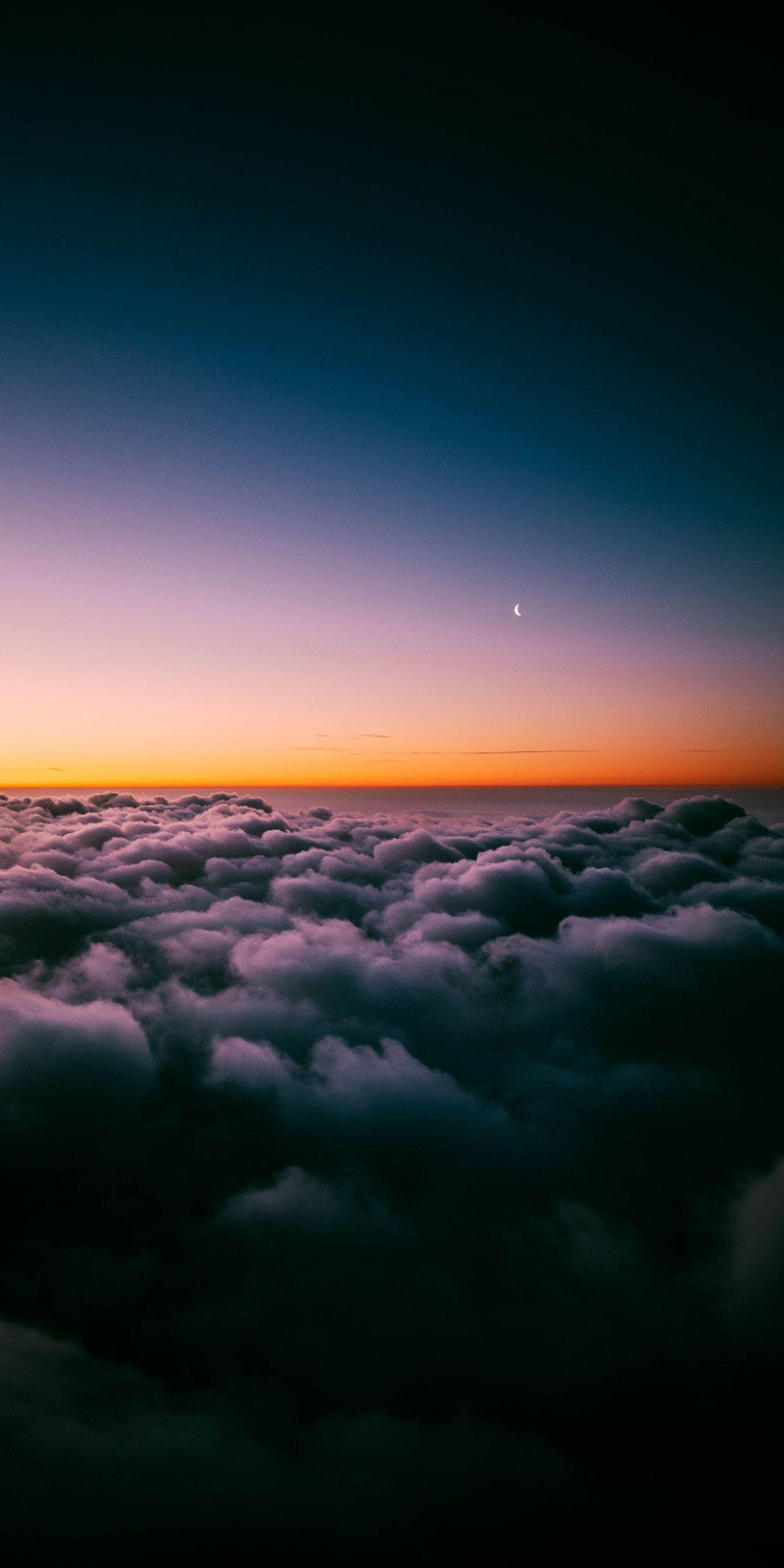 Sky Clouds Horizon Twilight Wallpaper Night Sky Wallpaper Scenery Wallpaper Cloud Wallpaper Hd wallpaper sky clouds sunset dusk