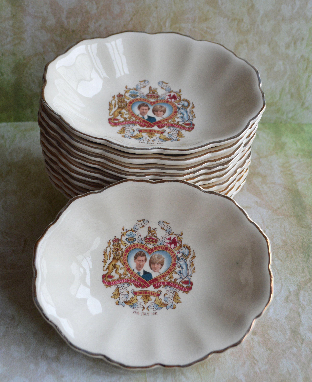 Princess Diana and Charles wedding commemorating dish