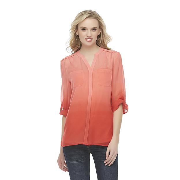 Covington Women's Sheer Blouse & Cami - Color Dipped