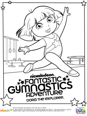Free Dora Gymnastics Printable Coloring Pages Coloring Pages Coloring Pages To Print Dora The Explorer