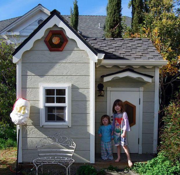 Spielhaus für den Garten selber bauen DIY Anleitung Pinterest - garten selbst gestalten tipps